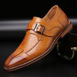 Merkmak 2020 Cuoio del coccodrillo del modello scarpe da uomo Scarpe da Business Casual grande formato 48 formale per la festa nuziale