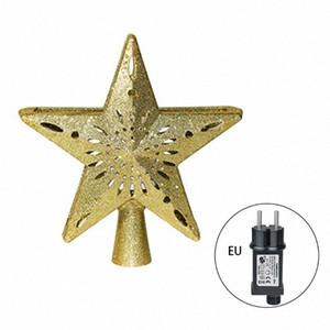 اختيار نجمة العارض شجرة عيد الميلاد توبر الإضاءة تدوير 3D بريق المضاء 72XF BzOw #