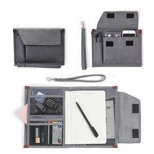 Travel Document Organizer Storage Bags Portable Student Notebooks Pencil Pen Folder Case Office Stationery Holder Accessories