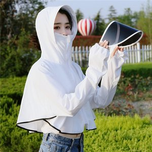 women's breathable hat hat sunscreen clothes outdoor long-sleeved sunscreen clothes thin coat