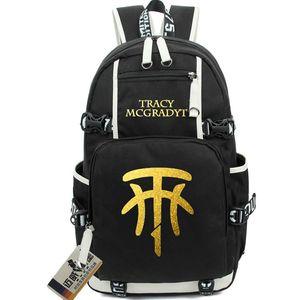 T mac Rucksack Tracy McGrady daypack Tmac Fans Schulranzen Basketball Rucksack Laptop-Rucksack Sport Schultasche im Freien Tagesrucksack