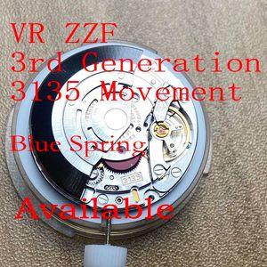 ZZF VR 3135 Movimiento tercera generación Blue Spring Fix a cualquier 3135 Movimiento relojes al por mayor al por menor
