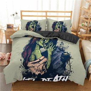 Boniu 3D Skull luxury Bedding Sets Duvet Cover Comforter Cover Pillowcase Full King Single Queen Bed Bedlinen Bedclothes