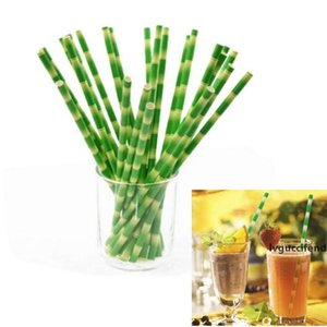 Disposable Bubble Tea Bamboo Shape Drinking Paper Straws Bamboo Kraft Straws Wedding Birthday Party Disposable Juice Straw