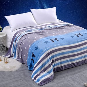 2020 New hot style Coral Wool blanket summer air conditioning blanket office blanket nap towel available all seasons printing