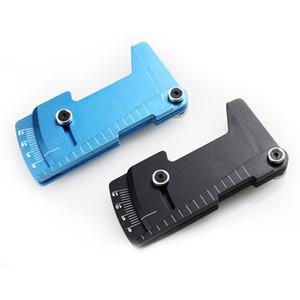 Regla ajustable CNC que ajusta la altura del coche RC y el borde de la rueda Camber mide 15 grados de aleación azul