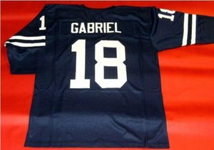 mulheres costume Homens Jovens Vintage # 18 ROMAN GABRIEL CUSTOM 3/4 de Futebol Jersey tamanho s-4XL ou personalizado qualquer nome ou número de jersey