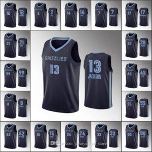MemphisGrizzliesMen Ja Morant Dillon Brooks Jonas Valanciunas Jaren Jackson IconNBA Custom 2020 Navy Jersey