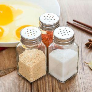 Küche Mehrzweckglas Shaker Feld Grill Sealed Menage Flasche japanischen Glas Pfeffer Gewürzpulver Gewürz Werkzeug Salzbehälter DH0058