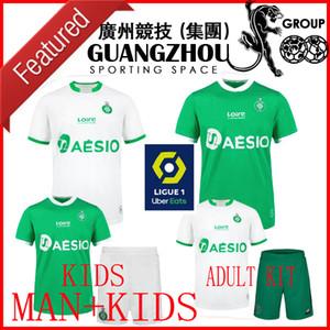 20 21 MAILLOT como Santos-Étienne jerseys 2020 del fútbol de casas de distancia camisas de los niños ASSE ST Etienne Khazri Beric Boudebouz Nordin Hamouma FÚTBOL