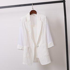 ma2tH 2020 Лето 2020 Женская одежда Сезон XIN Н.В. Чжуан новый британский стиль большой размер костюма пальто Hong Kong стиль темперамент свободный моды