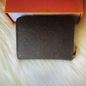 Pelle N63069 N63070 M60067 M60740 ZIPPY CONIA modo delle donne breve portafoglio Porta Pocket Compact Zipper Coin Card Pouch Zip Portafogli