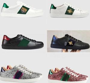 Loisirs Chaussures mode en cuir de luxe de chaussures blanches authentiques chaussures en cuir de vache Strapped de sport hommes chaussures femme plat Livraison gratuite
