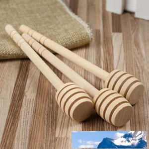 Mini Wooden Honey Stick Wood Spoon Stick Honey Dipper Honey Stirring Bar Party Supply OPP bag packaging fast shipping 8cm 10cm 15cm