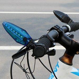 Étanche vélo Guidon Grip Lumière vélo conduit à vélo Coffre-fort Lampe de vélo Poignées USB rechargeable Klaxon Témoin d'avertissement