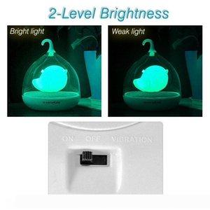 휴대용 디자인 충전식 터치 센서 진동 4 색 주도 새장 램프 LED 조류 밤 빛 키즈 터치 주차 침실 조명에 대한