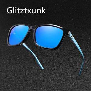 Glitztxunk óculos polarizados para homens clássico Marca Designer preto Homens Fashion Square Driving viagem Sun Vidro