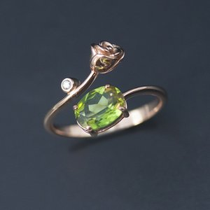 Color Change Zultanite Rose Ring 925 Sterling Silver 1.2ct Nano Diaspore Gemstone Fine Jewelry Romantic Rings for Women Factory wholesale