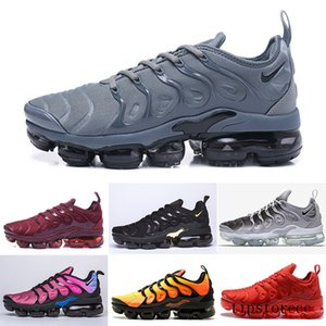 Fast Shipping New Mens Shoe Sneakers TN Plus Breathable Air Cusion Desingers Casual Running Shoes New Arrival Color US5.5-11 EUR36-45 GS7DL