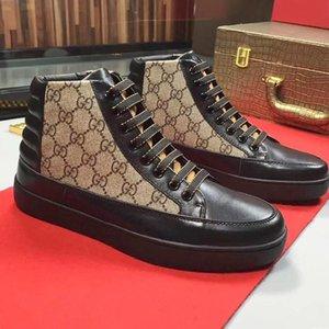 Men 'S; hi top zapatos para hombre zapatos de moda del otoño y del invierno suave de alta calidad Footwears encaje -Up más el tamaño de deportes ocasionales de los hombres Zapatos Dr