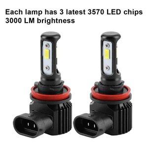 H1 H3 H4 H7 H8 H9 H11 H13 H16 5202 120W 3000LM Bright Car LED Headlight 6000K White Light IP68 Waterproof LED Lamp 2PCS lot