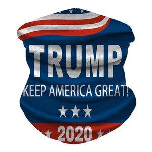 ABD STOK Trump Bisiklet Maskeler Eşarp Unisex bandanas Motosiklet Eşarplar Başörtüsü Boyun Yüz Maske Açık Amerika Büyük 2020 FY6068 tutun