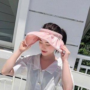 Çift Fat Kubbe sunhats Kore Stil Qg2C # Of Üstsüz Şapka Kadınlar Nötr Katlanabilir Bir Nesil Taraflı