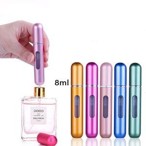 8 ml tragbare Reise-Mini-Container aus Aluminium nachfüllbare Duftstoff-Spray-Flasche leert kosmetische Speicher-Wasser-Behälter-Werkzeug-Flaschen
