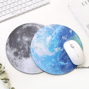 Planet Series Mat 220 x 220 x 3mm Circular Mouse Pad With Style Earth Venus Mars Mercury Jupiter Pluto Rainbow moon Black moon