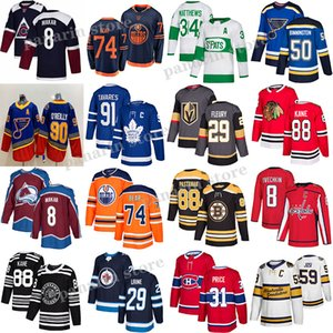 Toronto Maple Leafs Jersey 91 Tavares 34 Auston Mateus Edmonton Oilers 97 Connor McDavid Boston Bruins 88 David Pastrnak Hockey Jerseys