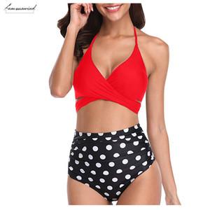 Sexy Bikini Set Halter Bandage Wrap Swimsuits Push Up Women Swimsuit Push Up Ruched High Waist Swimwear Swimming Suit Clothing