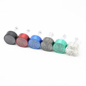 Kirsite sólido de color cigarrillo Molino Grinder embudo de metal Molinillos de hierba populares laberinto de metal caliente de la venta Multifuncrtable 14 2cc D2tional Y Po