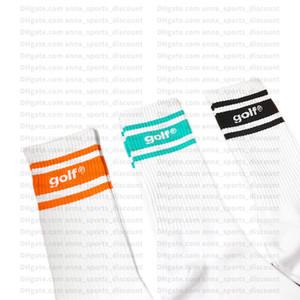 GOLFWANG classiche strisce sportivo a tre colori dei calzini un pacchetto di coppie di dieci calzini skate hip-hop di strada un formato all'ingrosso