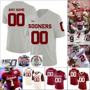 Personalizzato Oklahoma Sooners Calcio cucita uomini Jersey qualsiasi numero nome Tanner Mardocheo Kennedy Brooks Trey Discorso Rhamondre Stevenson