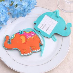 Lucky Elephant Luggage Tag Rubber Elephant Suitcase ID Adress Holder Baggage Boarding Tag Portable Label Travel Accessories YFA2218