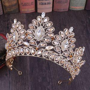 FORSEVEN epoca barocca Grande floreale di cristallo corona squisito diademi sposa Noiva spettacolo di cerimonia nuziale dei monili dei capelli accessori Y200727