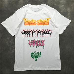Street Fashion Mens T-shirt 2020 Motif papillon Polos Tennis à manches courtes T-shirts Hommes Femmes Couple Styliste Haut Pull Qualité Tee