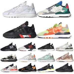 Adidas nite jogger réfléchissants bon marché nite jogger femmes chaussures de course de sport triple formateurs des hommes rouge vert noir blanc de Taille 36-45
