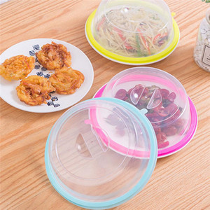 Plato placa Tazón Placa de cocina de alimentos frescos cubrir los alimentos Refrigerador de aceite a prueba de tapas transparente a las microondas tapas de platos de Sealed