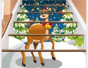 2020 escada decorativo SLT027 novo do Natal fulvo Stair decalques 3D decalques decalques de parede auto-adesivas