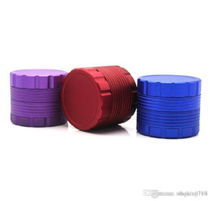 New 4 layer aluminum alloy smoker tobacco grinding 50mm thread metal grinder machine herb grinder--4 colors