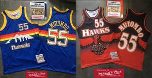 Rétro AtlantaFaucadeHommes Dikembe Mutombo 1996-97 Swingman Jersey Retro Mitchell NessNBA HardwoodsJerseys classiques