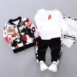 New style baby autumn suit 0-3 years old boy handsome autumn and winter three piece suit children's clothes fashion