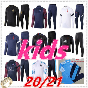 marseille barcelona real madrid juventus psg jordan france manchester city liverpool Atletico Madrid kids soccer tracksuit 2020 2021 football training suit jacket