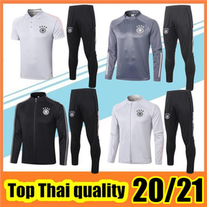 2020 2021 التدريب الرمادي دعوى كرة القدم البيضاء Soccer Survetement Survetement Football Jacket 20 21 أسود كامل الرمز البريدي جاكيتات مجموعة بولو