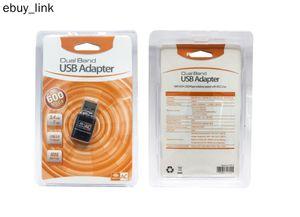 2020 Nouveau Adaptateur réseau 600Mbps RTL8811CU AC600 bi-bande 2,4 GHz 5 GHz USB WiFi Dongle Lan sans fil
