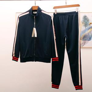 2020 G Herren rot Designer Anzug schwarz Mode LuxuxMens Anzüge Herbst Männer Designerkleidung (Jacken + Hosen) schwitzen