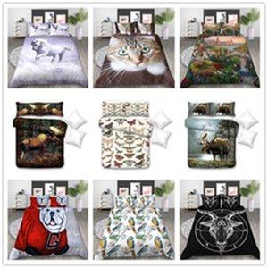 Simpatici animali serie Size Bedding Set re a due letti queen con copriletto cane cavallo gatto per impostare la copertina colorata Bedding Home Textile