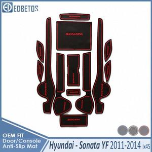 Anti-Sale Pad Sonata YF i45 2011 2012 2013 2014 Accessoires Porte Groove Porte fente Anti-Slip Mat Car ubeQ #