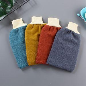 Bath Guanti del tovagliolo Double Sided ispessimento Guanto Asciugamani Rayon Mittens Washcloth donne unisex alla moda massaggio alla schiena Fango 1 5JY B2